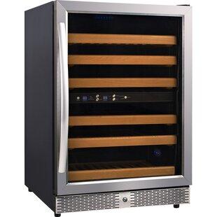54 Bottle Dual Zone Freestanding Wine Cooler by Eurodib