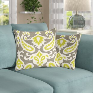 Chalker Cotton Throw Pillow (Set of 2)