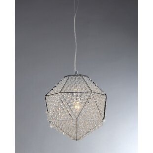 Warehouse of Tiffany Poseidon 1-Light Crystal Pendant