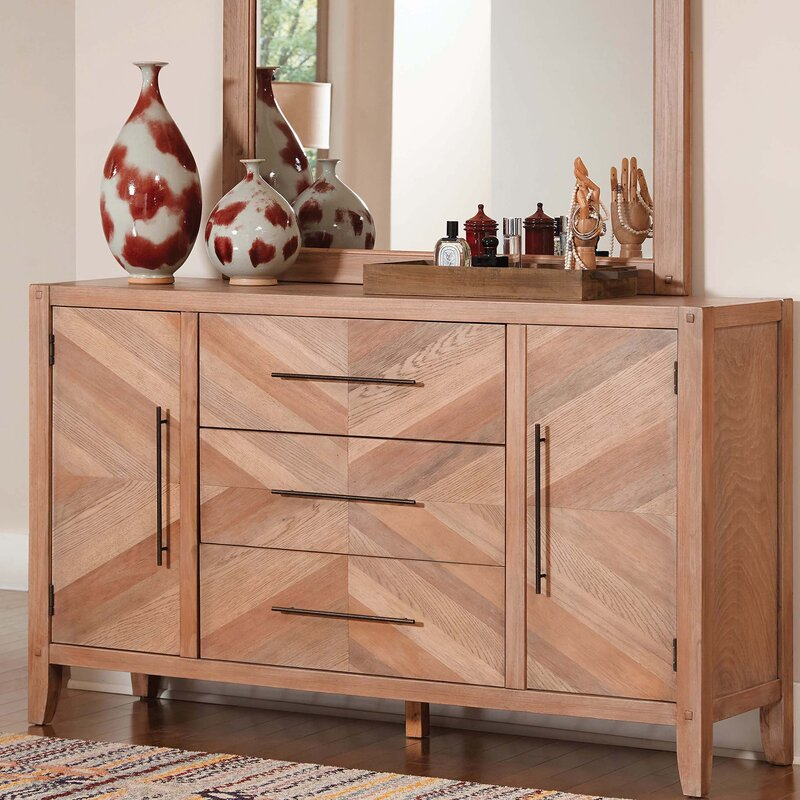 Foundry Select Gilbreath Willa 3 Drawer Combo Dresser