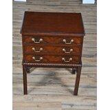 Reynoldsburg 3 - Drawer Solid Wood Nightstand in Brown by Astoria Grand