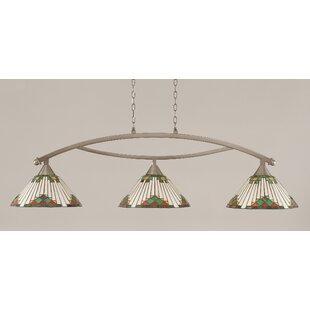 Loon Peak Essonnes 3-Light Glass Shade Kitchen Island Pendant