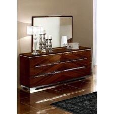 6 Drawer Dresser with Mirror by Noci Design