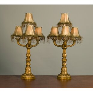 Eskridge Fringed Shade 30 Table Lamp (Set of 2)