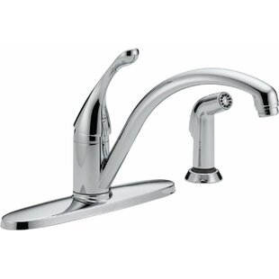 Delta Collins Single Handle Kitchen Faucet with Side Spray and Diamond Seal Technology
