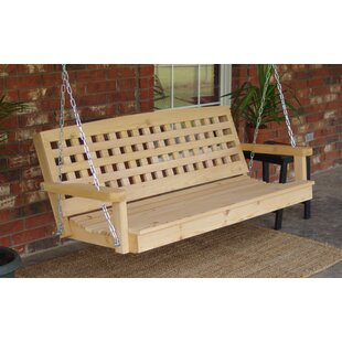 Hinderliter Lattice Back Cedar Porch Swing