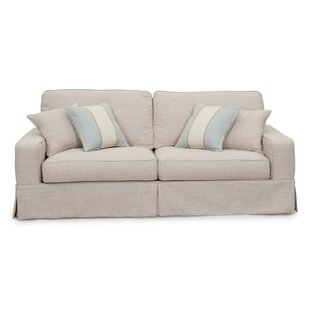 Compare prices Glenhill Box Cushion Sofa Slipcover by Rosecliff Heights Reviews (2019) & Buyer's Guide