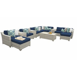 Falmouth 14 Piece Piece Sectional Seating Group with Cushions