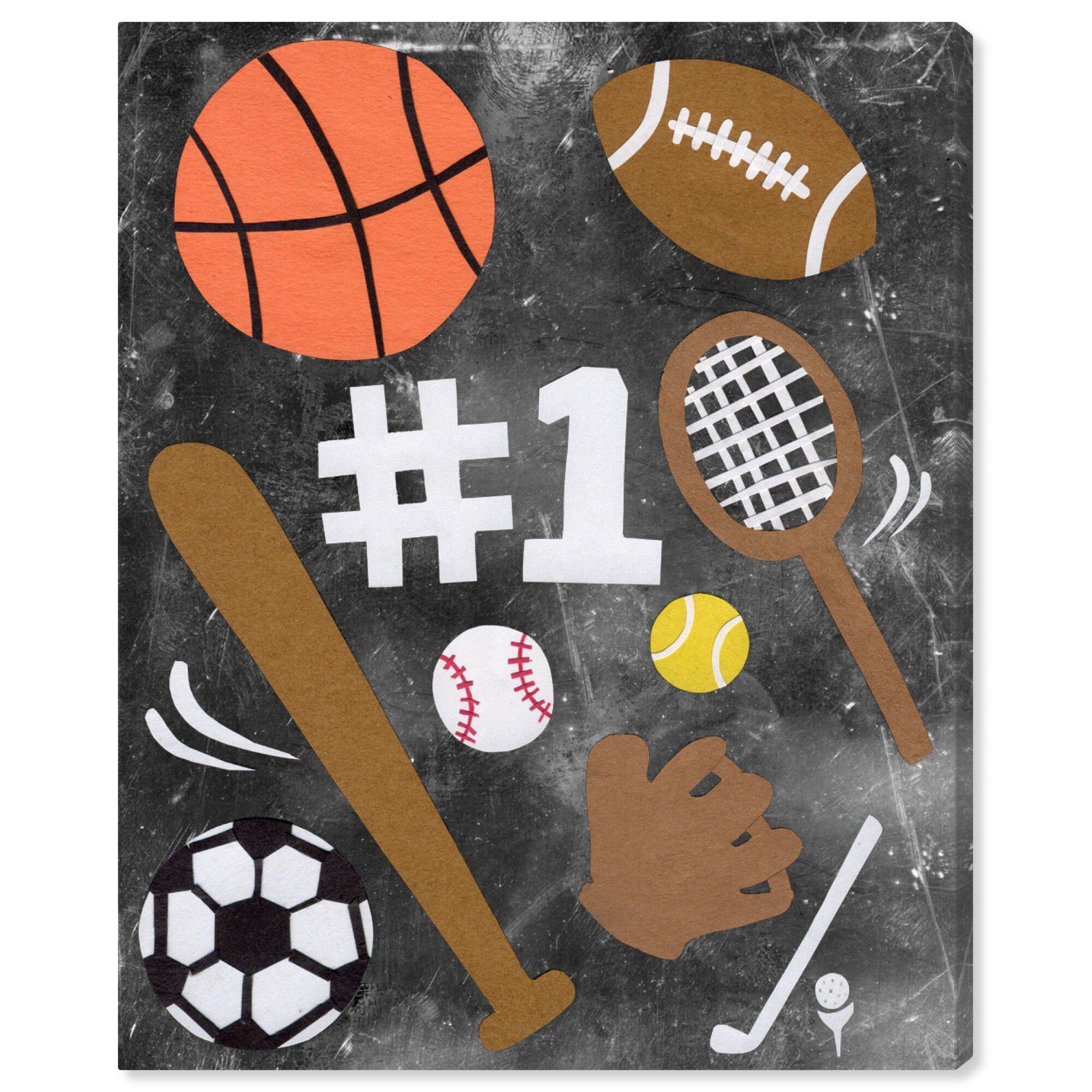 Isabelle Max Ellison Sports Fan Canvas Art Wayfair