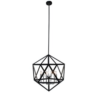Addison 6-Light Geometric Chandelier by Trule Teen