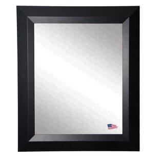 Brayden Studio Contemporary Matte Black Wall Mirror