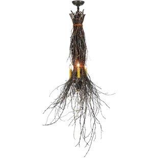 Meyda Tiffany Greenbriar Oak 3-Light Novelty Chandelier