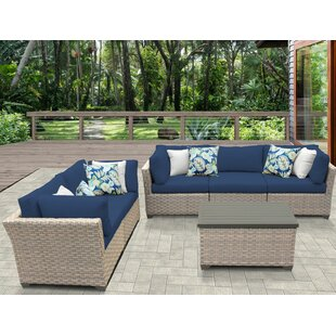 Monterey 6 Piece Sofa Seating Group with Cushions by TK Classics