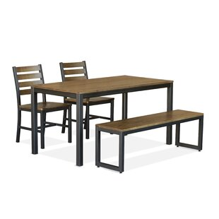 Loft 4 Piece Solid Wood Dining Set Elan Furniture