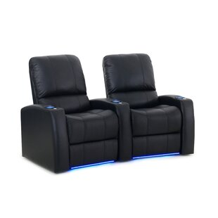 Leather Home Theater Recliner (Row of 2) Latitude Run
