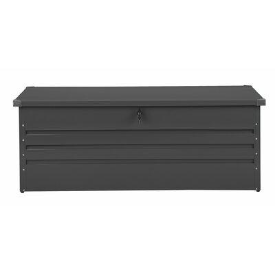 Cebrosa Outdoor 158 Gallon Metal Deck Box Beliani Color: Gray