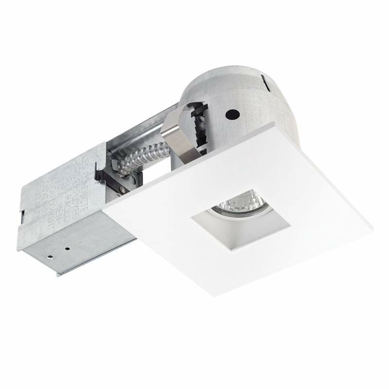 Globe electric company integrated ic rated swivel spotlight square integrated ic rated swivel spotlight square 4 recessed lighting kit aloadofball Choice Image