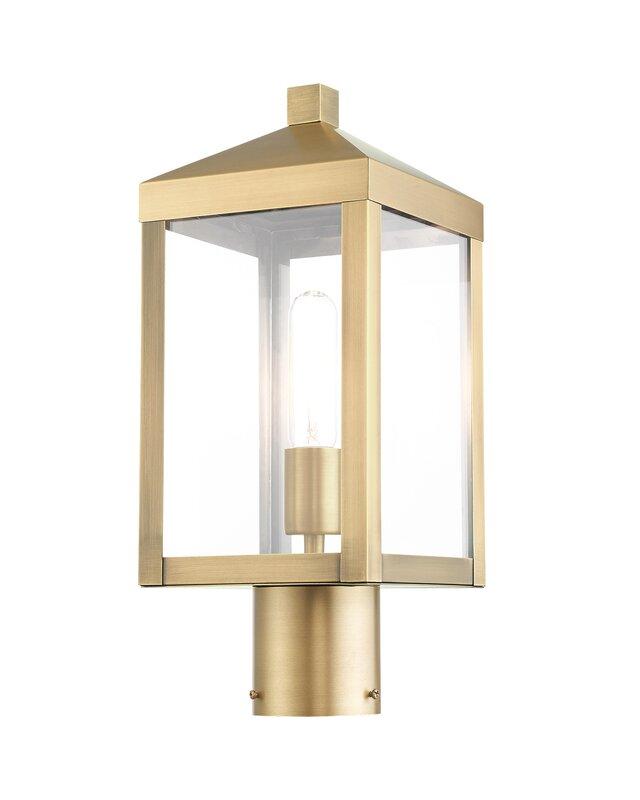 What Is Best Post Light Under 169 99 Mercury Row Tucana Outdoor Top 1 Light 15 25 H Hardwired Lantern Head