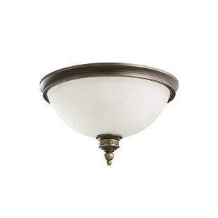 Read Reviews Westerville 2-Light Flush Mount By Darby Home Co
