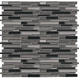 Metro Gris Blend Interlocking Random Sized Mixed Material Mosaic Tile in Gray