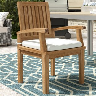 Elaina Teak Patio Dining Chair with Cushion