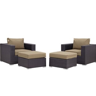 Brentwood 4 Piece Lounge Chair Set with Cushions