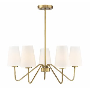 Mercer41 Heriberto 5-Light Shaded Chandelier