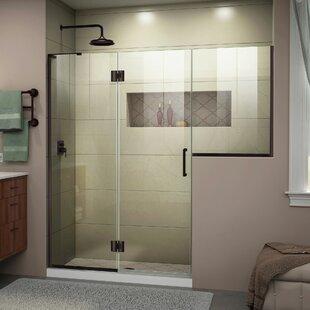 DreamLine Unidoor-X 56-56 1/2 in. W x 72 in. H Frameless Hinged Shower Door