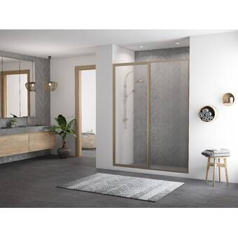 Coastal Industries Paragon Series 49 5 W X 70 31 H Sliding Framed Shower Door Wayfair