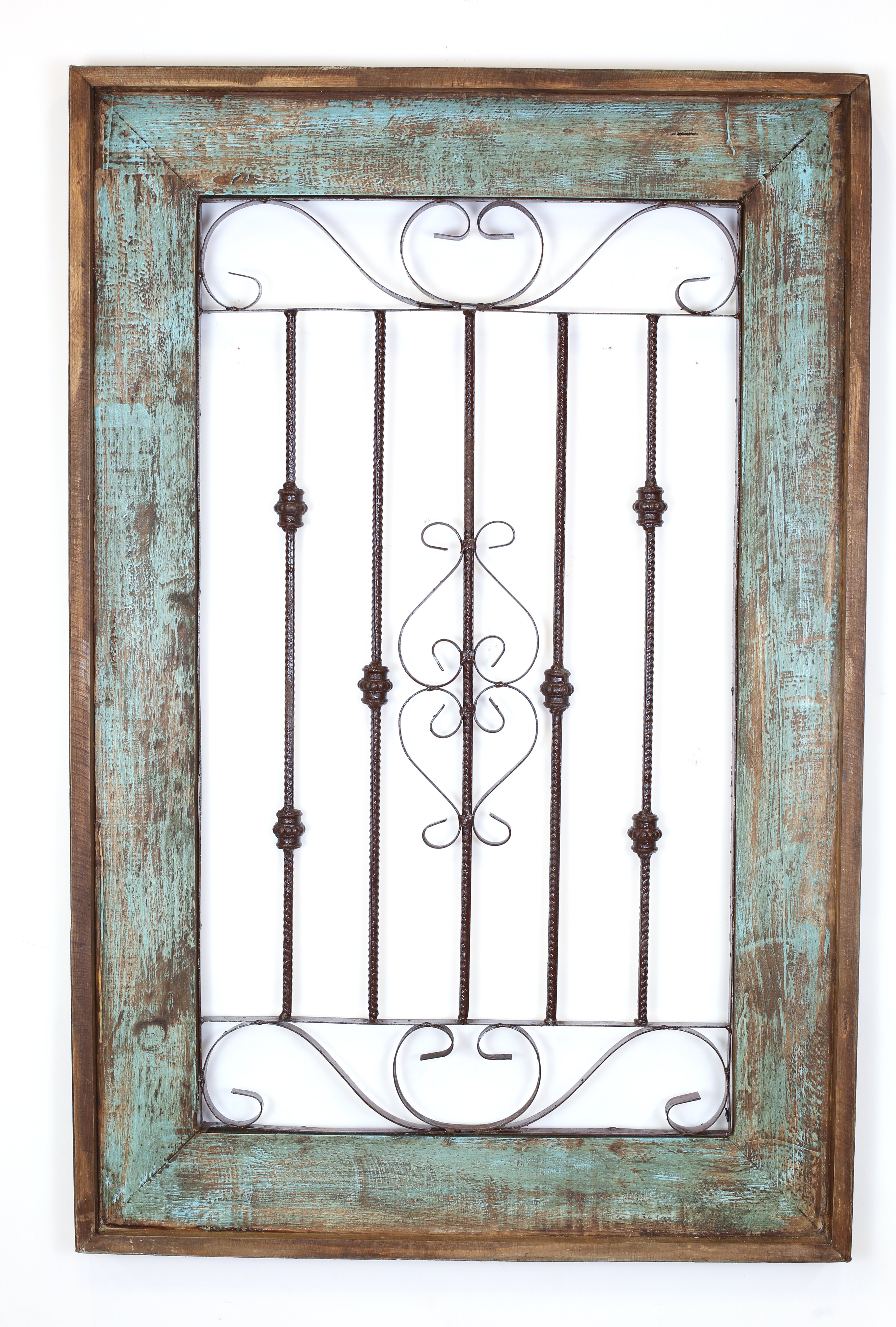 Wood And Metal Door Wall Decor Adorable Myamigosimports Spanish Large Architectural Window Wall Decor Design Inspiration