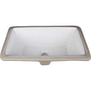 Ceramic Rectangular Undermount Bathroom Sink ByHardware Resources