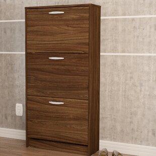 Boahaus LLC 18 Pair Shoe Storage Cabinet