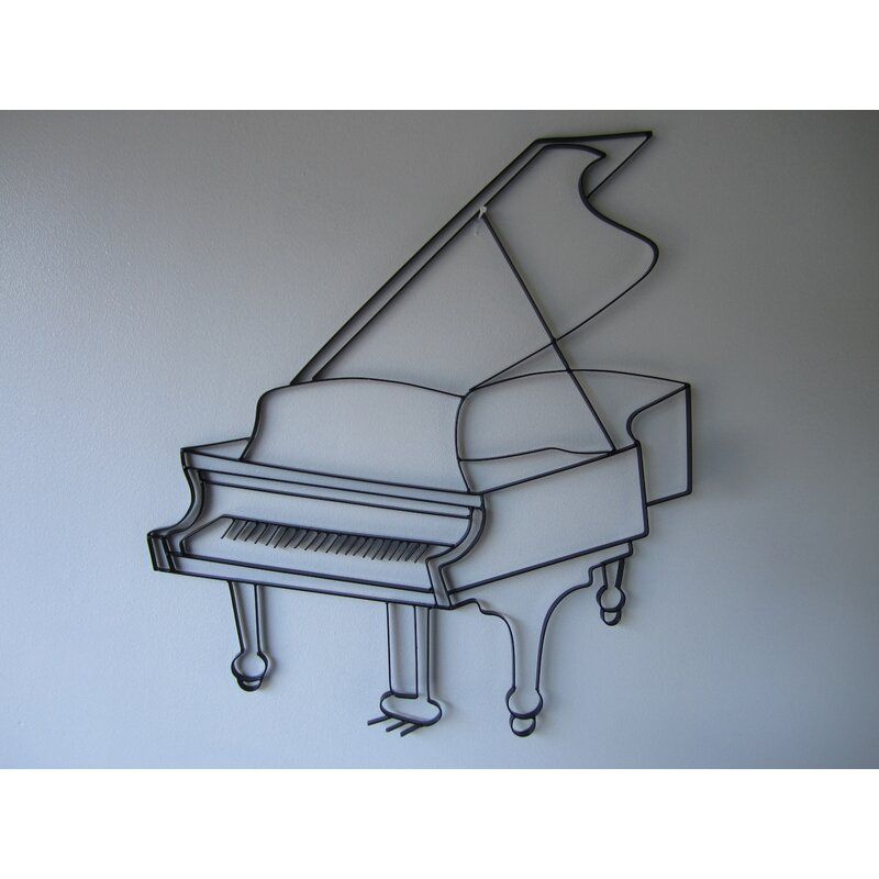 Red Barrel Studio Grand Piano Handcrafted Steel Wall Décor | Wayfair