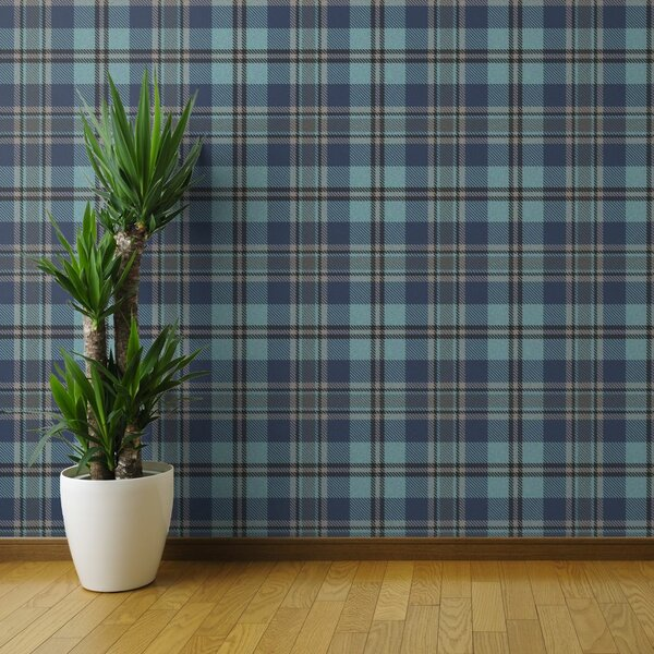 Peel-and-Stick Removable Wallpaper Buffalo Plaid Check Green White