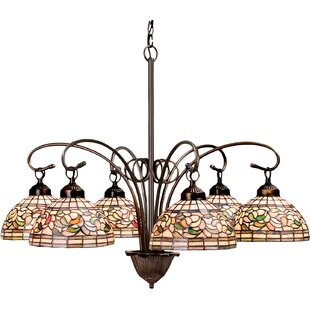Meyda Tiffany Turning Leaf 6-Light Shaded Chandelier