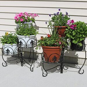French Lily Design 3-Tiered Indoor/Outdoor Plant Stand Set (Set of 2)