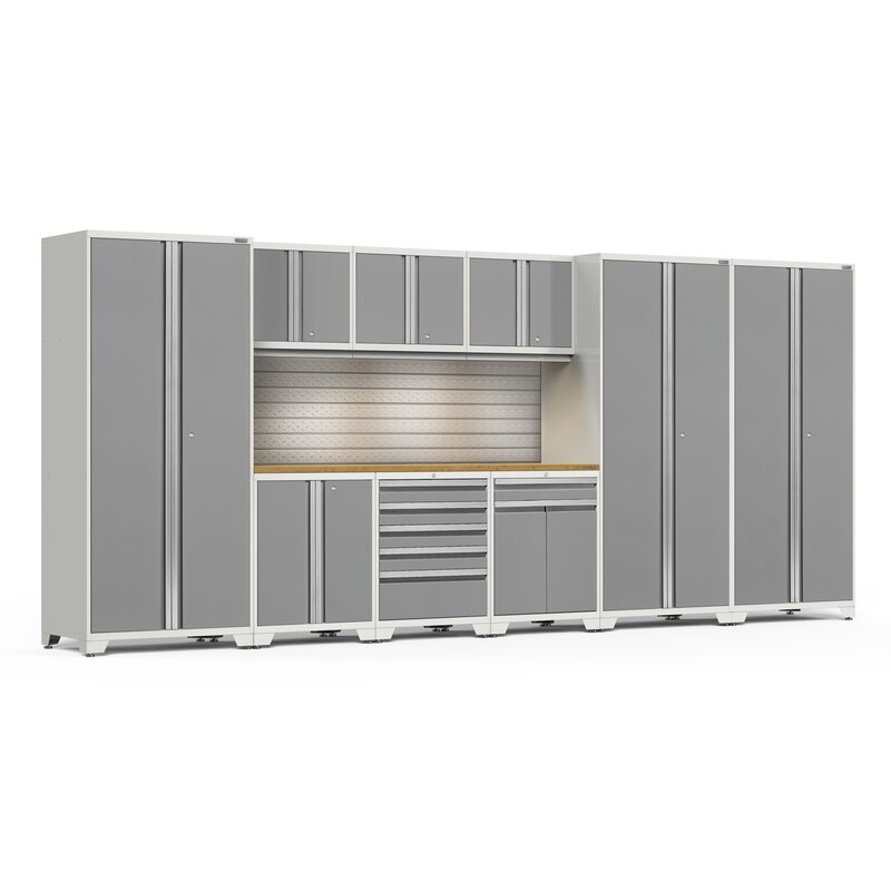 NewAge Products Wall Cabinet Welded Steel 24 Gauge Gray 24 in x 18 in x 12 in
