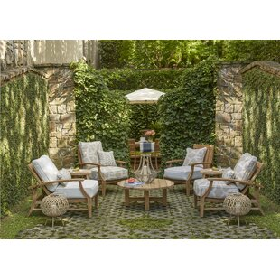 Croquet 5 Piece Teak Dining Set with Cushions by Summer Classics