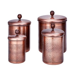Floral 4 Piece Kitchen Canister Set