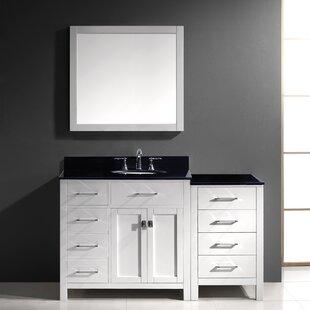 Savitsky 57 Single Bathroom Vanity Set with Mirror By Latitude Run