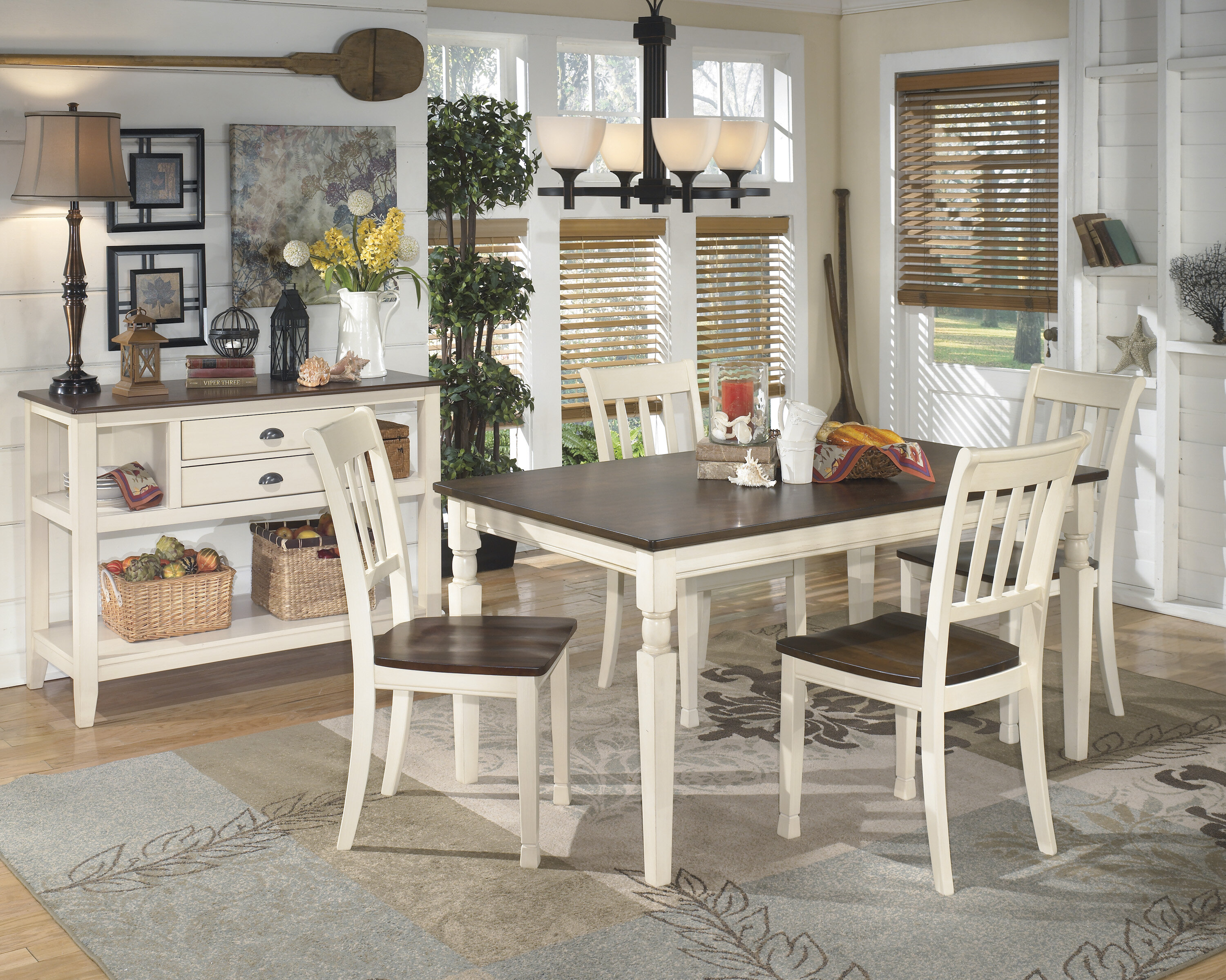 Rosecliff Heights Leamont 5 Piece Solid Wood Dining Set Reviews Wayfair