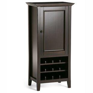 Simpli Home Amherst 12 Bottle Floor Wine Cabinet