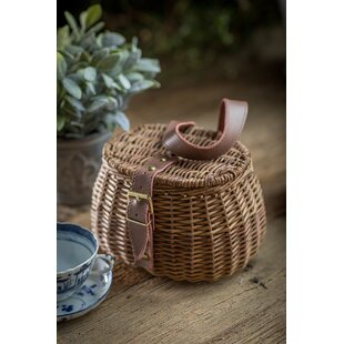 Wicker Fishing Picnic Basket