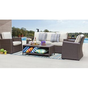 Azure 4 Piece Sofa Seating Group with Cushions