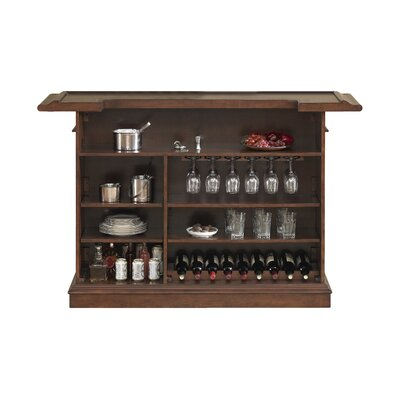 Valore Bar with Wine Storage Color: Brown by American Heritage