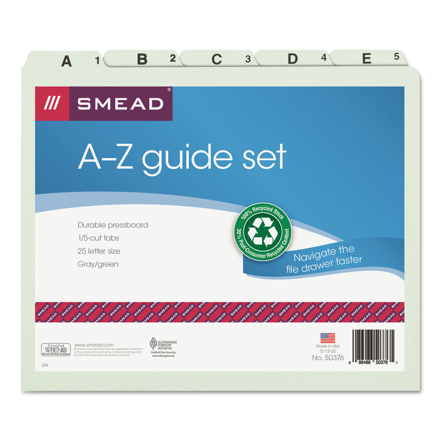 Smead Pressboard Alpha Recycled Top Tab File Guides 1 5 Tab 25 Set Reviews Wayfair