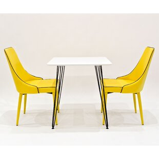 Voris Dining Set With 2 Chairs By Rosalind Wheeler