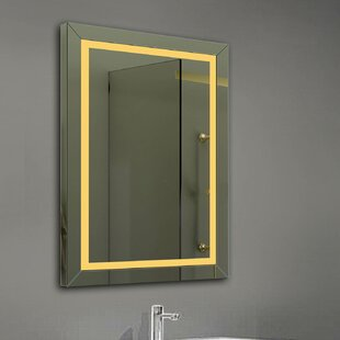 Savings Alger LED Bathroom/Vanity Mirror By Orren Ellis