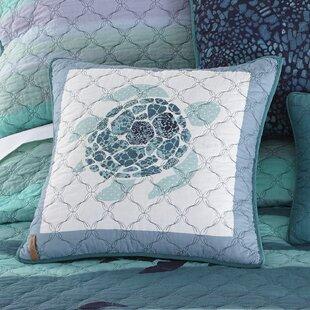 Fredette Sea Turtle 100% Cotton Throw Pillow