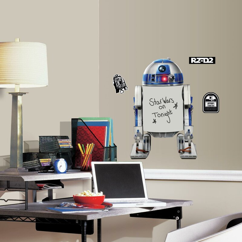 Room Mates Star Wars R2 D2 Dry Erase Peel And Stick Giant Wall Decal